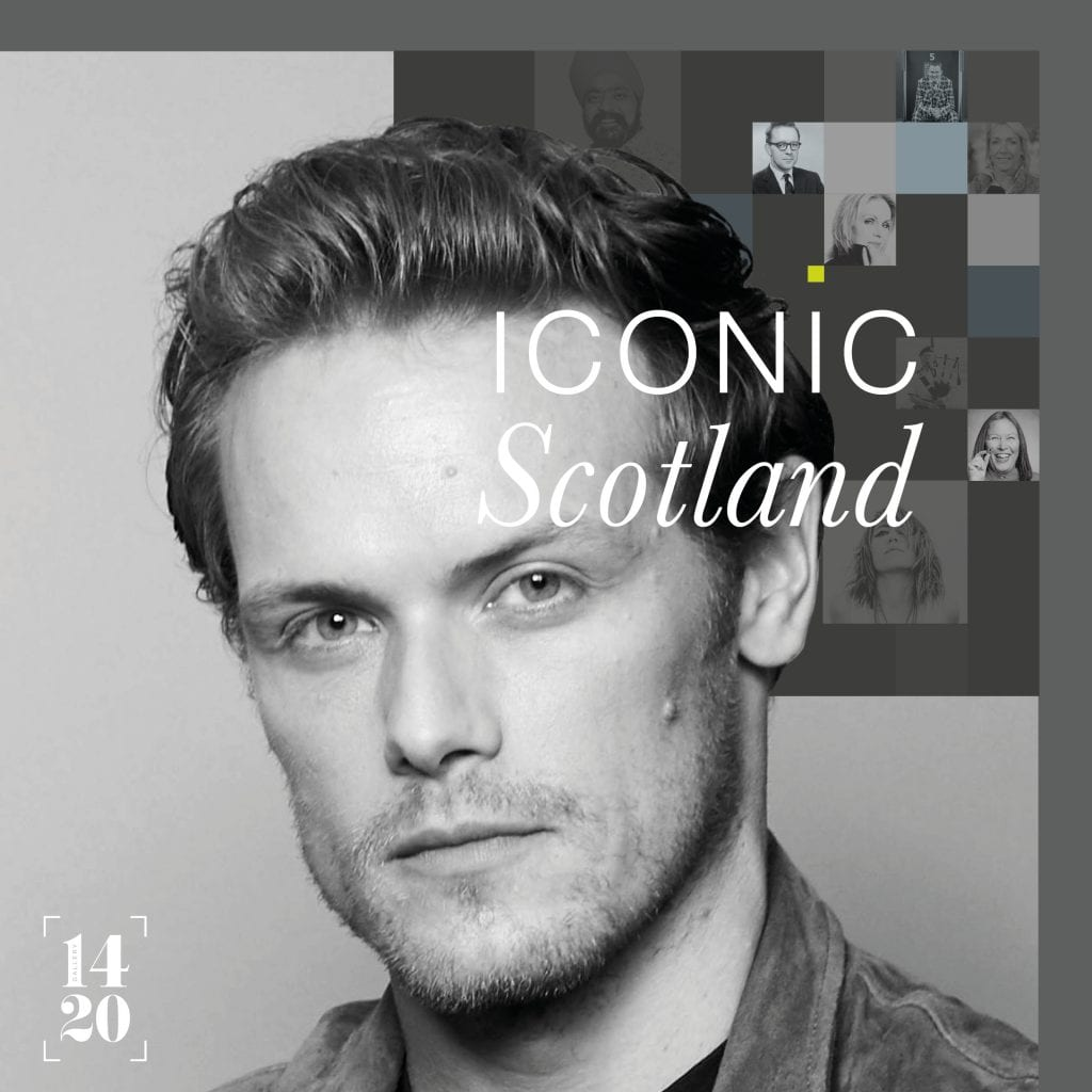Sam Heughan appears in the Great Tapestry of Scotland Iconic Scotland exhibit